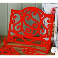Cast Iron Cookbook Stand Red Kitchen Book Holder 5060163610657 by shopinfashion