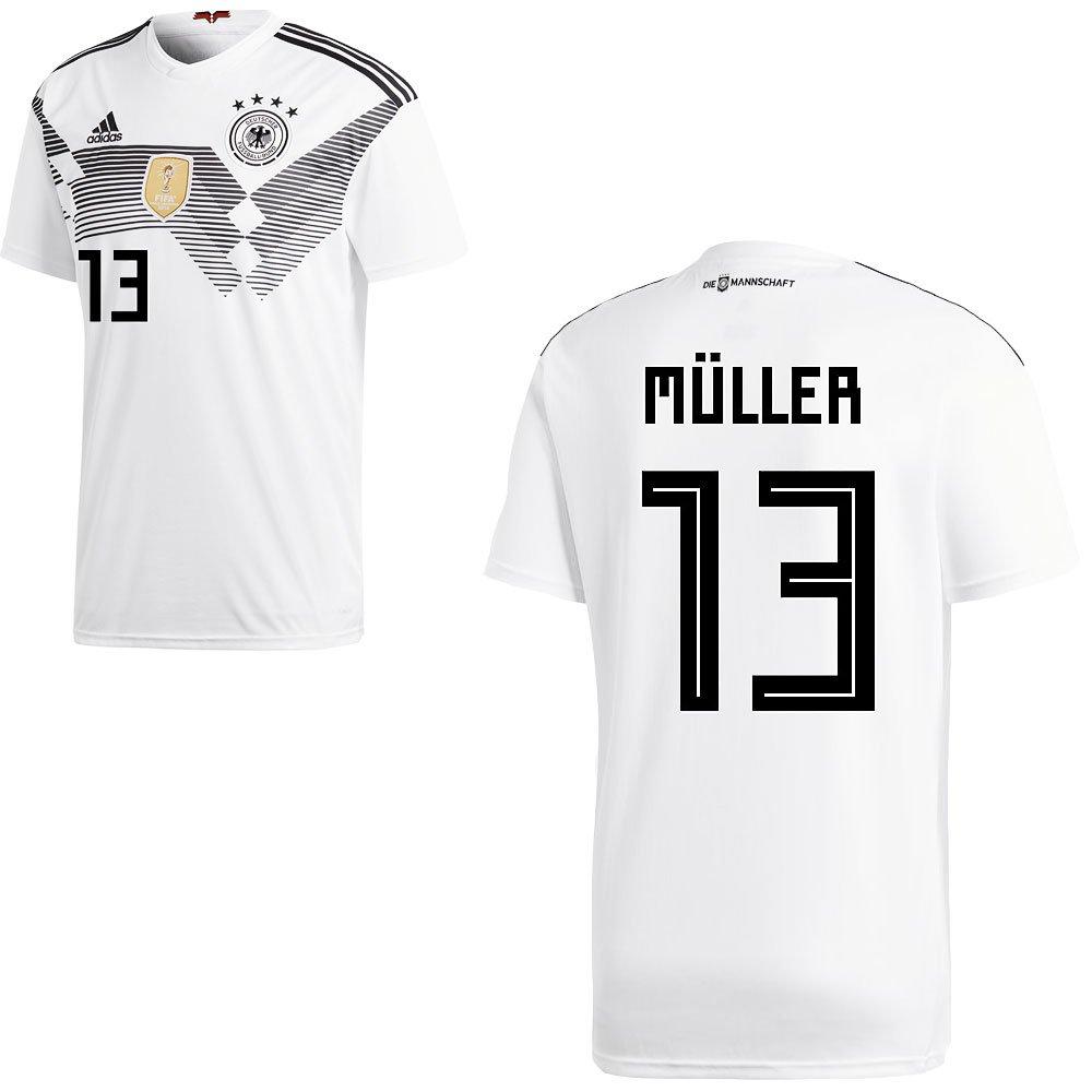 Müller 12 ans Fan sport24 DFB Allemagne Football Maillot D'accueil de la Coupe du Monde 2018 pour Hommes et Enfants, avec Le nom du Joueur