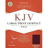 King James Version - KJV - Cornerstone - Compact - Large Print: Bonded Leather - Pine - Snap Flap Closure