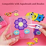 Aqua water beads Beginners Studio perler fusion Craft beads for kids non toxic with bead palette and layout table, bead pen, bead peeler, sprayer, template sheets and instructions-15 colors(2400pcs)