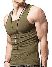 XDIAN Men's Sleeveless Sport GymVest Cotton Undershirt Casual Slim Fit Tank Tops Summer