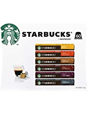 Starbucks by Nespresso Coffee Pods Variety Pack 60 Capsules (10 of Each Flavor) 334g