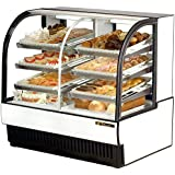 True Mfg TCGDZ-50, 51 Wide Curved Glass Dry/Refrigerated Bakery Display Case