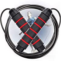 Aminery Sport Jump Strap,Jump Rope, Tangle-Free Rapid Speed Jumping Rope Cable for Women, Men, and Kids, Adjustable...