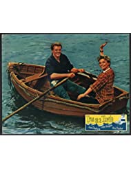 MOVIE POSTER: True as a Turtle Lobby Card-John Gregson and June Thorburn rowing a boat.