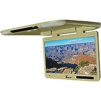 (-NEW-) Tview 25 TFT Flipdown Monitor Built in IR Remote Light Tan