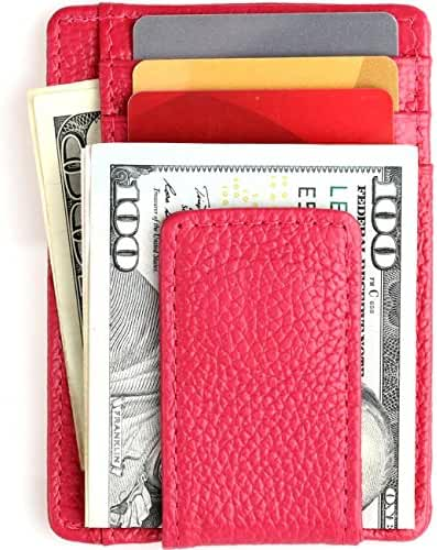 Front Pocket Wallets for Men Slim Wallet RFID Genuine Leather Card Holder