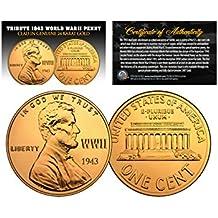1943 TRIBUTE Steelie WWII Steel PENNY Coin Clad in Genuine 24K GOLD (Lot of 3)