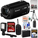 Panasonic HC-W580 Twin Wi-Fi HD Video Camera Camcorder 64GB Card + Hard Case + Tripod + LED Light + Reader + Kit