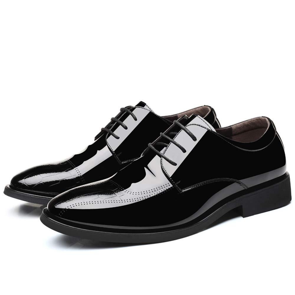 JIALUN-Schuhe Herren Simple Business Business Business Oxford Casual Schnür-Stil und Fuß Stil Lackleder Formelle Schuhe (Farbe   Lace braun, Größe   43 EU)  c5260c