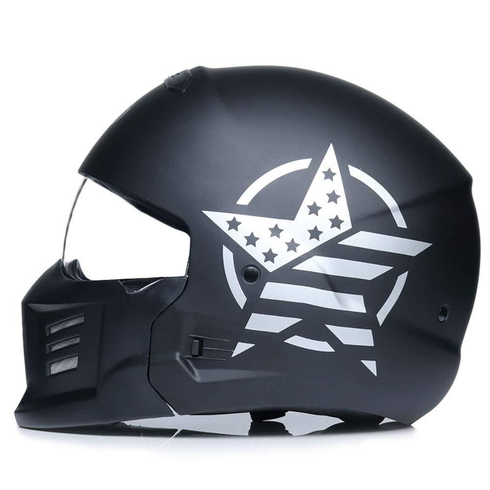 オートバイ用ヘルメット、オートバイ用ヘルメットレトロフルフェイスヘルメットハーレーヘルメット機関車乗馬人格戦士ヘルメット