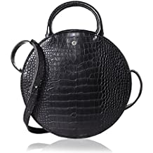 The Lovely Tote Co. Women's Fashion Crocodile Circle Crossbody Bag