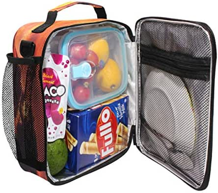 Durable Insulated Lunch Box,Africa Elephants Tote Reusable Cooler Bag LARGER Greater Storage Waterproof Grocery Bag to School Office Work