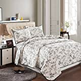 CXYY 100% Cotton Fashion 3 Pieces Quilted Bedspread Set, Queen Size