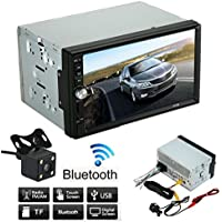 7 HD Touch screen Car Stereo Receiver, Lary intel Double 2 Din Car Stereo MP5 MP4 MP3 Player FM Radio Bluetooth USB AUX + Parking Camera