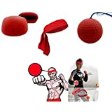 Tonyko Decompression Boxing Ball, Speedpunch Boxing Training Kit, Boxing Reflex Ball Training, Reactions and Speed Fight Ball Reflex Speed Training Boxing Headband Punch Exercise for Boxing MMA and Ot