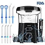 Homitt Waterproof Water Dental Flosser, Electric 600ml Oral Irrigator with 9 Multifunctional Leak-Proof Nozzles Support 5 Functions to Clean Tooth and Dental Care for Adults and Kids