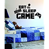 Eat Sleep Game Version 3 Decal Sticker Wall Vinyl Art Design