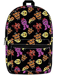 Five Nights at Freddys Characters Allover Print Backpack Bookbag