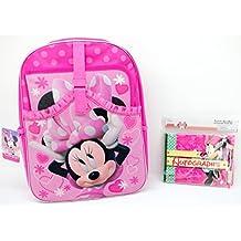 "Disney Minnie Mouse Backpack 16"" + Minnie Mouse Autograph Book Kit BUNDLED!"