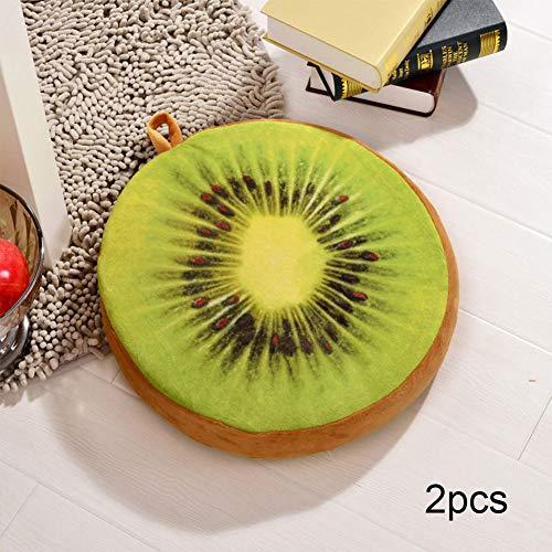 YUMUO 3D Imprimir Fruta Redonda Cojin De Asiento,Tatami Suave Cojin De Silla con Cremallera,lanzar Almohada para La Cocina De Comedor En Casa De Oficina En El Interior F 32x32x4cm(13x13x2inch)