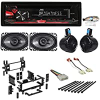 87-95 Jeep Wrangler Custom System w/JVC CD Receiver+8 Rollbar Speakers+(2) 4x6