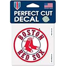 MLB Boston Red Sox Official 4''x4'' Logo Perfect Cut Decal