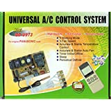 UNIVERSAL DUCTLESS MINI-SPLIT AC CONTROL SYSTEM W/REMOTE & SENSORS