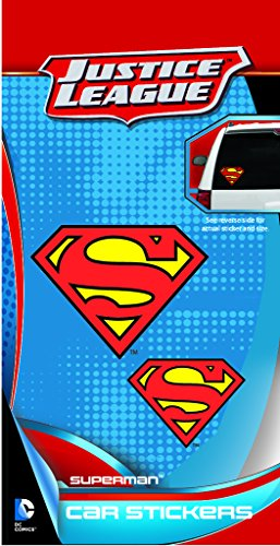 DC+Comics Products : Enjoy It DC Comics Superman Logo Car Stickers, 2 pieces, Outdoor Rated Vinyl Sticker Decal
