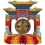 Beistle 50302 Asian Gong Centerpiece, 9-Inch