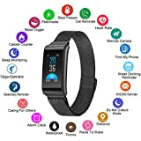 Fitness Tracker, Smart Watch With Heart Rate & Blood Pressure Monitor For IOS & Android, Waterproof Steel Activity Tracker With Sleep & Blood Oxygen Monitor, Calorie/Step Counter For Men Women Kids