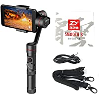 Zhiyun Smooth 3 3 Axis Brushless Handheld 360 motors degree moving gimbal for Smartphone and GoPro3/4/5