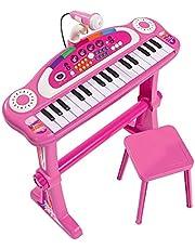 Simba 106830690 – My Music World Standkeyboard / 31 knappar/med ljus och ljud/55 cm/rosa