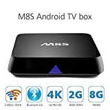 TopYart M8S Android 4.4 Amlogic S812 Quad Core 2GB 8GB Android TV Box Support 2.4G/5G Dual Band WiFi, HDMI 1.4 Up to 4k2k H.264. H.265 Video Decode, Remote Control