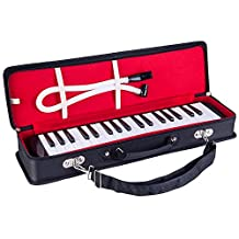Mugig Melodica 37 Keys with Carrying Case, Organic Material, Musical Instrument