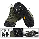 WODISON Anti Slip 5 Teeth Ice Snow Grip Shoe Covers Overshoes Snow Shoes Crampons Cleats