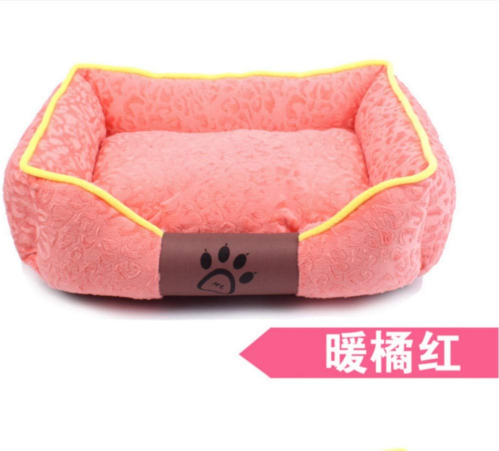 D XL(80X65CM)Dog House Removable And Washable Teddy golden Retriever Pet Nest Dog Mat Cat Litter Pet Supplies Nest L