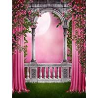 Yelewen 5x7ft Pink Fairytale Thin Vinyl Customized Digital Printed Photography Backdrop Prop Photo Background