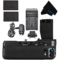 Battery Grip Bundle for Canon EOS Rebel T6i/T6s/750D/760D/ X8i/8000D Includes Vertical Battery Grip, 2-Pk LPE17 Long-Life Batteries, Charger, More
