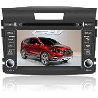 OttoNavi HD1213CR-WSS60NAX Honda 2012 CRV Multimedia In-Dash OEM Replacement Car Radio (Grey/Silver)