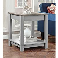 Better Homes and Gardens Langley Bay End Table, Gray/sonoma Oak