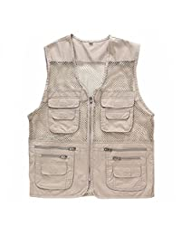 ZQXPP Men's Outdoor Multifunction Multi-pocket Pierced Fishing Vest Photo Journalist's Vest