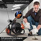 Drain Auger, Drain Cleaner Machine 75 Ft x 1/2