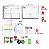 Magnetic Dry Erase Calendar Kit, 4 Pack Feela