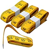 Flexible Extra Long Tape Measure - HSELL 120-Inch/300cm Double-Scale Sewing Tape Measures for Tailor Cloth Ruler including 4 Packs Yellow Heavy Duty Soft High Rate in USA 30-Day Money Back Guarantee 24-Hour Customer Support (C1)