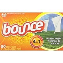 Bounce Outdoor Fresh Scent Fabric Softener Sheets 80 Count (Packaging May Vary)