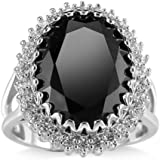 Fashion Women 925 Silver Black Onyx Ring Wedding Engagement Jewelry Size 6-10 (9)