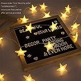 EFFE Luces de la Estrella Cuerda, Bateria cargada Decoraciones de estrellas,20 leds Estrellas decorativas blancas cálidas para bodas, cumpleaños, Halloween, Navidad, habitaciones para bebés, interiores o exteriores, 3m/10FT