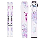 2016 Volkl Chica 140cm Junior Skis w/ 3Motion 4.5 Ski Bindings