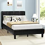 Harper&Bright Designs Upholstered Diamond Stitched Platform Bed (Queen, Black)